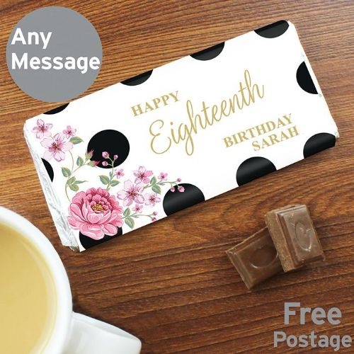 Floral Dot Milk Chocolate Bar